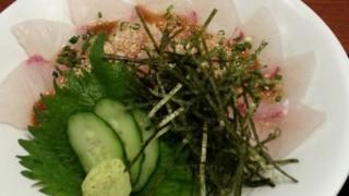 「ごまカンパチ丼」をさかな市場で@博多駅筑紫口